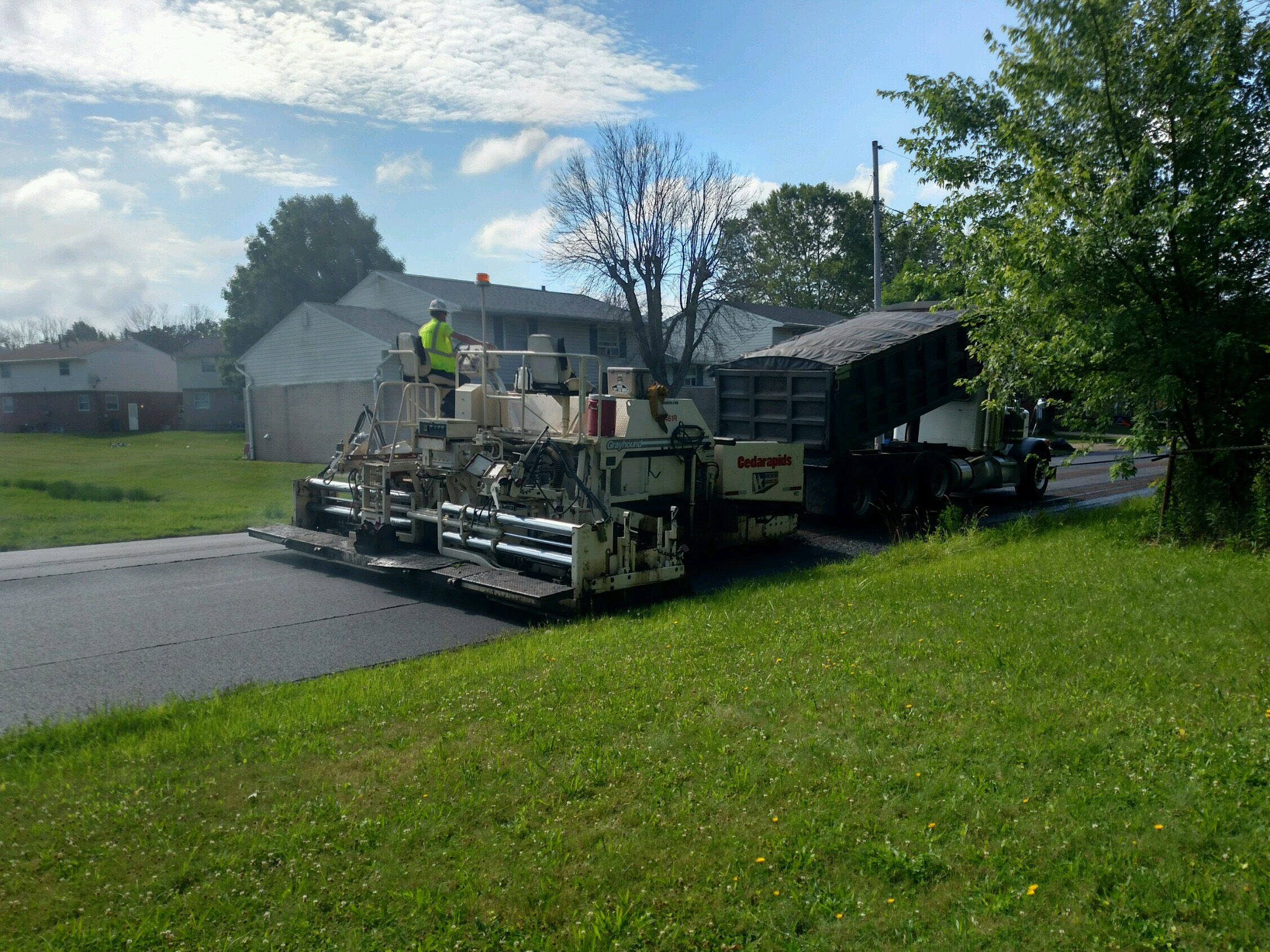 Machine Resurfacing the Road